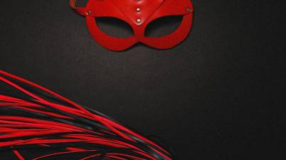 bdsm mask and whip