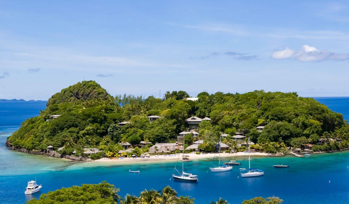 private caribbean island resort