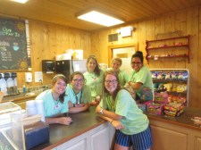 Matching accidentally with the Work Crew & Summer Staff ladies in the Totem Inn snack shop