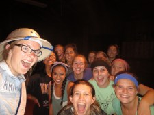 Dance party with all the girl campers and WC ladies