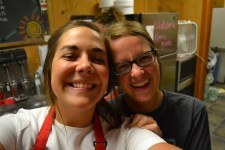 Madi & I working at the Totem Inn the last night of camp