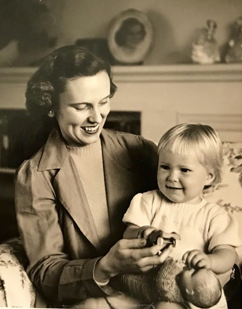 mom and bonnie 1950