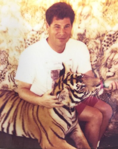 Me, with a tiger
