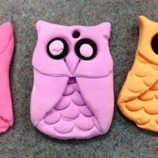 Texture clay owl