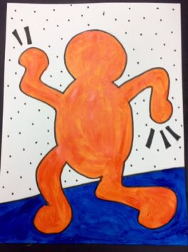 Haring- Bold Movement painting