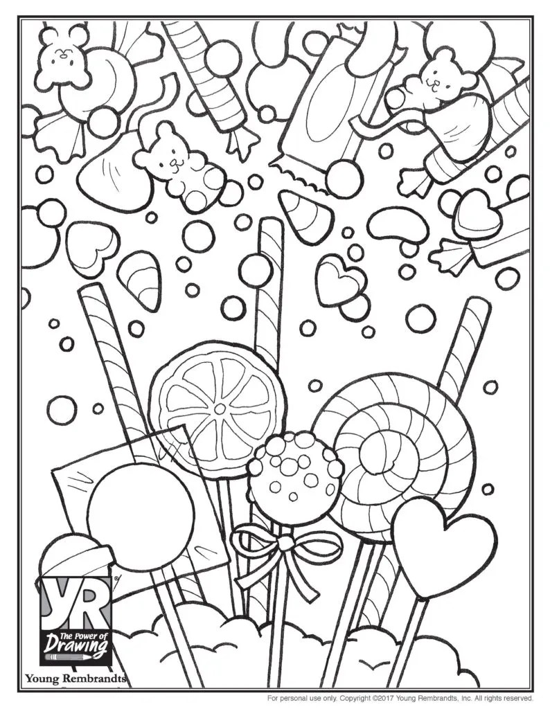 Candy Shop War Pages Coloring Pages