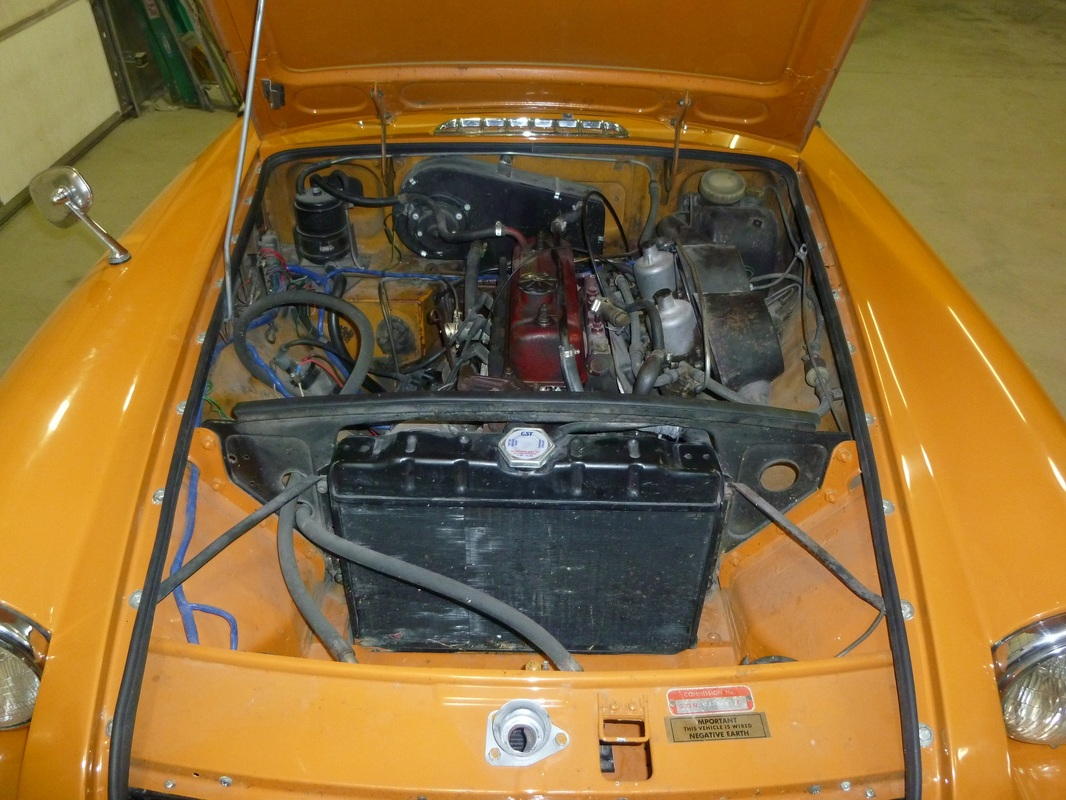hight resolution of 1970 mgb engine compartment make over repainted engine and engine compartment powder coated clutch cover heater box delete plate exhaust manifold and