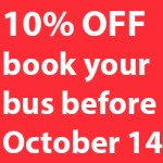 Young's invites YOU to book a bus by October 14 to receive 10% off your booking