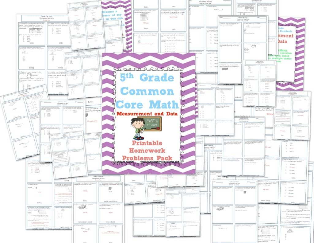 A Math Printable Homework Review Pack And My Teacher Story Linky Party