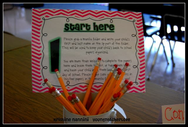 Open House And Meet The Teacher Night Freebies