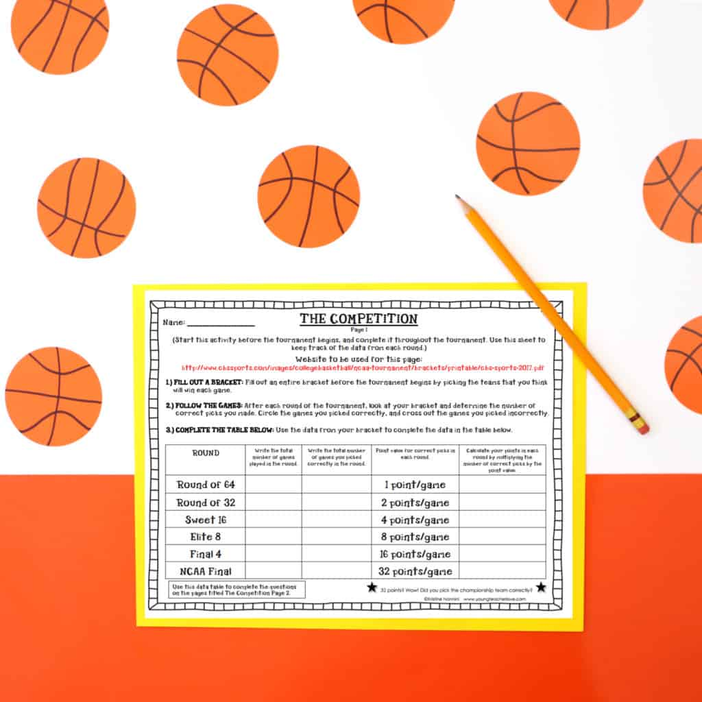 March Madness Math Project And Spring Persuasive Writing