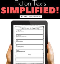 Summarizing Fiction Texts Simplified! - Young Teacher Love [ 1102 x 735 Pixel ]