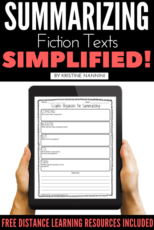 small resolution of Summarizing Fiction Texts Simplified! - Young Teacher Love