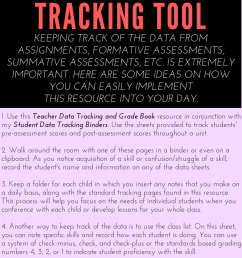 Walking Through Standards Based Grading: Part 3 and a Teacher Data Tracking  Tool - Young Teacher Love [ 1200 x 800 Pixel ]