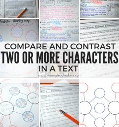 Compare and Contrast Two or More Characters in a Story {Freebies Included}  - Young Teacher Love [ 1024 x 819 Pixel ]