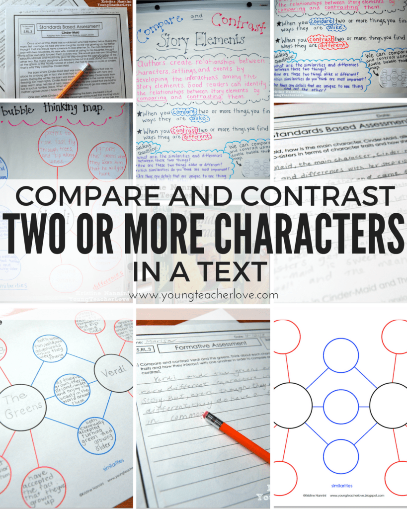 medium resolution of Compare and Contrast Two or More Characters in a Story {Freebies Included}  - Young Teacher Love