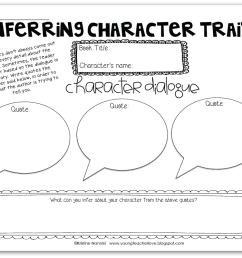 Inferring Character Traits Through Dialogue (Plus a Free Graphic Organizer)  - Young Teacher Love [ 801 x 1024 Pixel ]