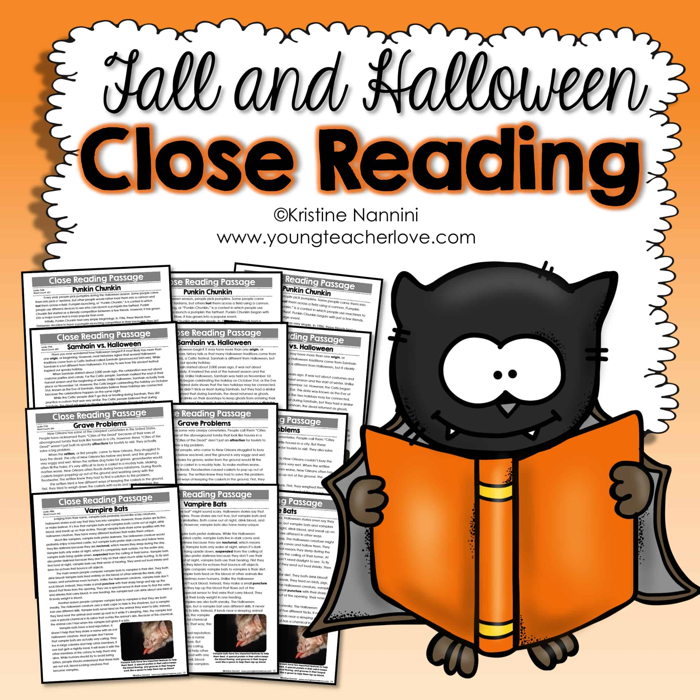 Fall And Halloween Close Reading Passages Text Dependent