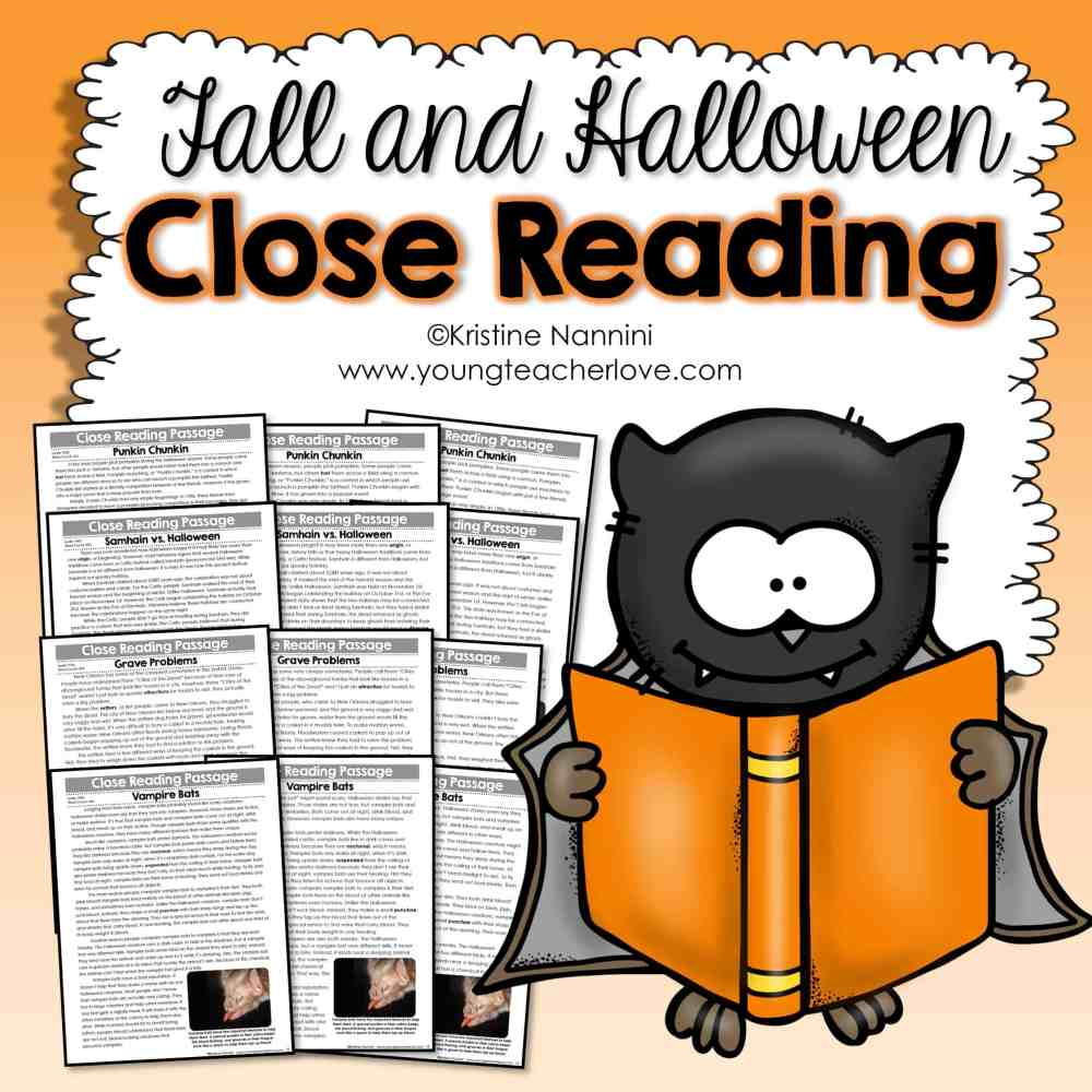 medium resolution of Fall and Halloween Close Reading Passages