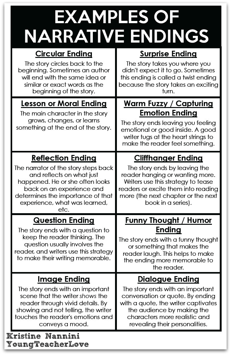 hight resolution of Writing Narrative Endings - Young Teacher Love