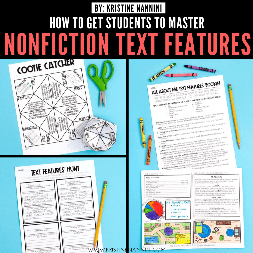 medium resolution of Freebies to Help Students Master Nonfiction Text Features