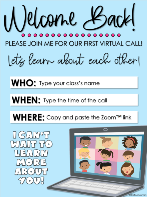 small resolution of Virtual First Day Back to School: Lesson Plans and Activities -