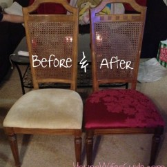 Reupholster Dining Room Chairs Sesame Street Chair Recover Old - For Less Than $5 Young Wife's Guide