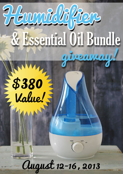 Humidifier and Essential Oil Bundle Giveaway - myhumblekitchen.com