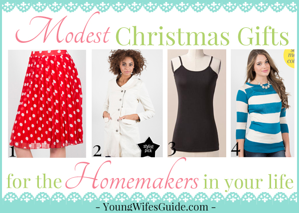 Modest Christmas Gifts for the Homemakers in your life