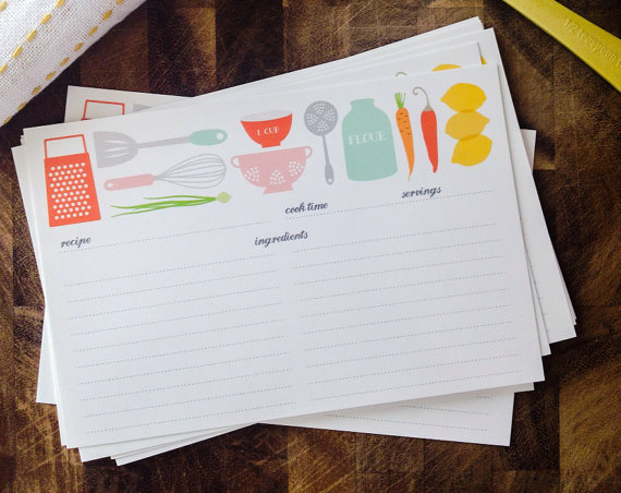 Adorable Recipe Cards!!