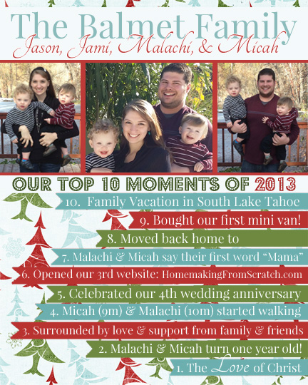 "Our ""Top 10"" Christmas Card"
