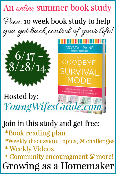 Calling the super busy, the stressed out, the overtired. Join this FREE online book study so you can say goodbye to survival mode!!
