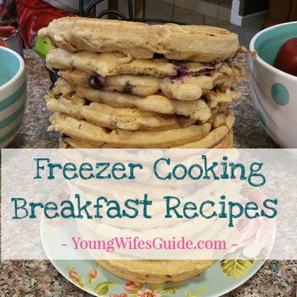 Freezer Cooking Breakfast Ideas