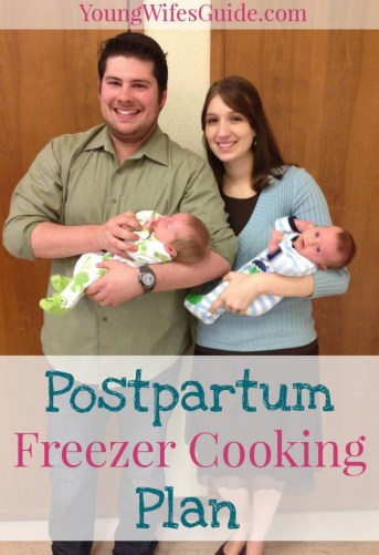 Postpartum freezer cooking plan