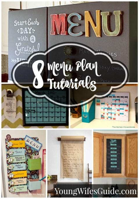 8 Menu Plan Tutorials