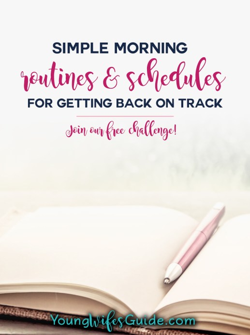 Simple morning routines and schedules
