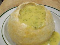 Broccoli Cheddar Soup in Bread Bowl | Young Wifey's Blog