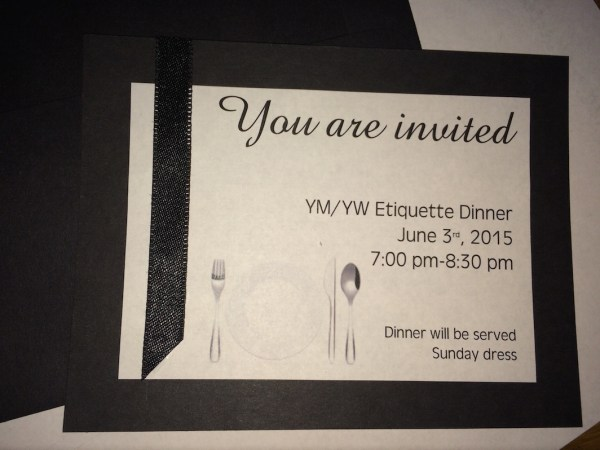KC1 Etiquette Dinner Mutual Activity