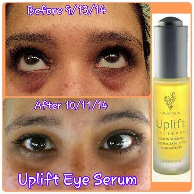UpliftEyeSerumBeforeAfterPic  Younique Makeup Skincare  Cosmetics