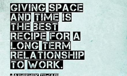 Giving space in a relationship.