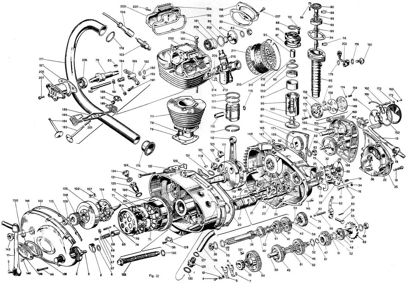 Old Motorcycle Engine Exploded Diagram : EnginePorn