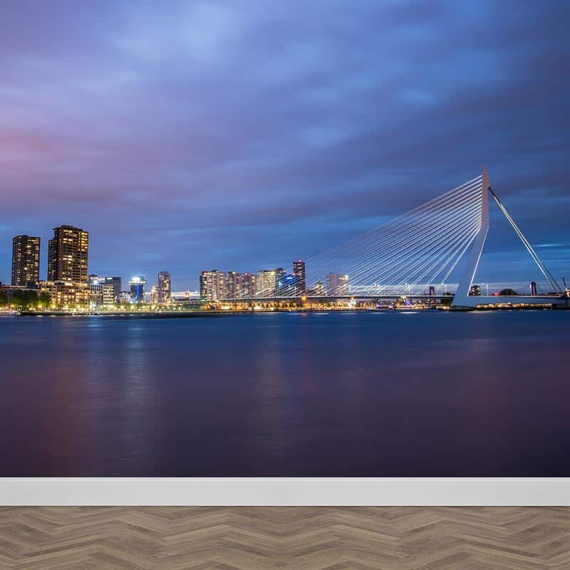 Fotobehang Skyline Rotterdam Met gratis drukproef YouPrinl