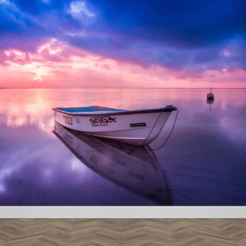 Fotobehang Bootje in zee Op maat gemaakt bij YouPrinl