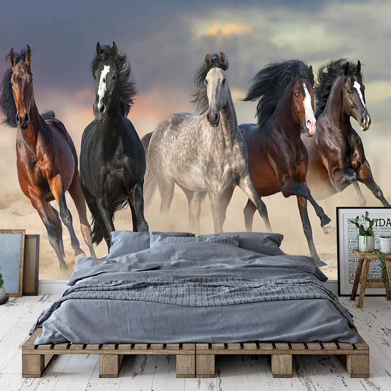 Fotobehang Paarden in galop Met gratis drukproef YouPrinl
