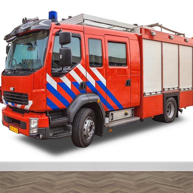 Fotobehang Brandweerwagen NL Op maat gemaakt YouPrinl