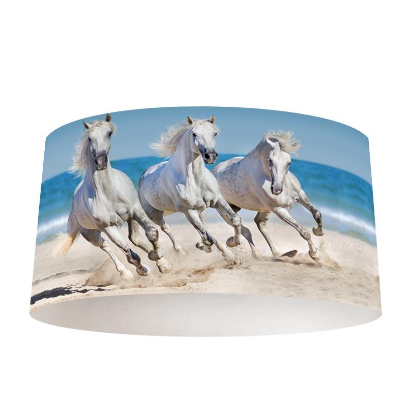 Lampenkap Paarden op het strand Speciaal op maat gemaakt
