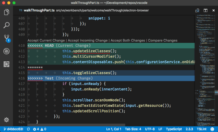 visual studio code web development ide