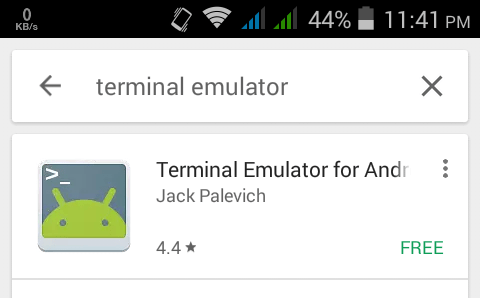 terminal emulator google play store