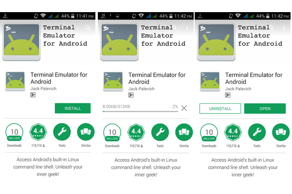 Android Emulator Installing, downloading and Open