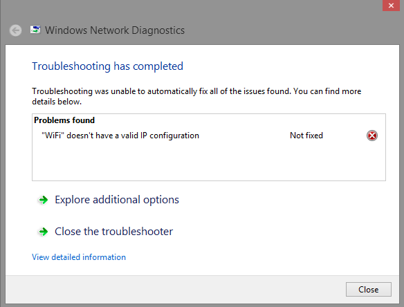 WiFi Doesn't Have a Valid IP Configuration In Windows 10, 8, 7